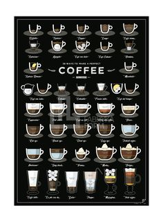 plakat 38 Ways To Make A Perfect Coffee | Follygraph | MORE on: https://fabrykaform.pl/follygraph