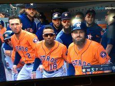 "The Astros ""Homerun Stare"" - against Seattle Cheap Baseball Caps, Baseball Jerseys, Basketball, Baseball Stuff, Baseball Games Online, Dallas Keuchel, Astros World Series, Military First, Minute Maid Park"