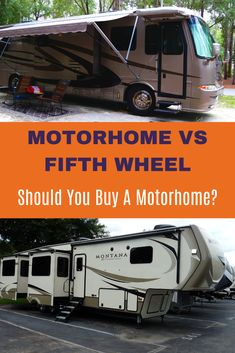 In the motorhome vs wheel comparison, who wins? Find out the pros and cons of each as a certified RV inspector compares them. Which rig is best suited for your RV travels? 5th Wheel Living, 5th Wheel Rv, 5th Wheel Camping, Rv Camping Checklist, Camping Hacks, Camping Ideas, Camping Humor, Camping Glamping, Camping Recipes