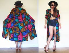 Vintage 80's abstract avant garde multi colors by RebelCloset
