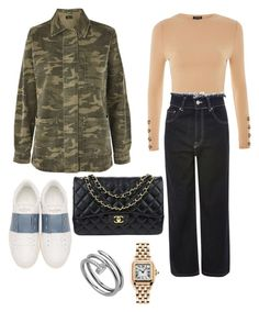 A fashion look from December 2017 featuring crop tops, shirt jacket and high rise jeans. Browse and shop related looks. High Rise Jeans, Shirt Jacket, Cartier, Valentino, Topshop, Fashion Looks, Chanel, Crop Tops, Day
