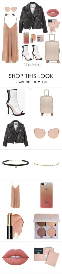 """Paris :)"" by nhuhien ❤ liked on Polyvore featuring Boohoo, CalPak, Acne Studios, Topshop, Carbon & Hyde, Sans Souci, Kate Spade, Bobbi Brown Cosmetics, Lime Crime and Royce Leather"