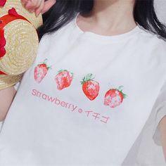 S-3XL Adorable Straweberry Tee Shirt SP167733 Kawaii Shirts, Kawaii Clothes, Moon Clothing, Kawaii Shop, Tee Shirts, Tees, Cosplay Outfits, Online Clothing Stores, T Shirts For Women