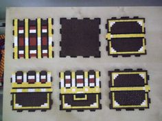 3D Perler bead Zelda chest unassembled by capricornc5 on deviantart