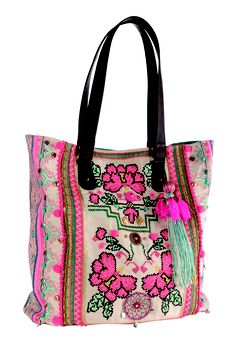 #Accessorize #Neon #Embroidered #Tote  #Fashion #Bags #SS13