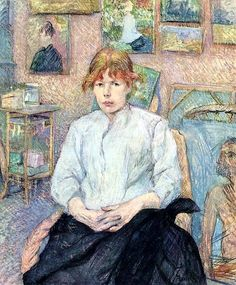 The Redhead with a White Blouse by Henri de Toulouse-Lautrec (France)