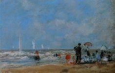 On the Beach, 1863 Eugene Boudin