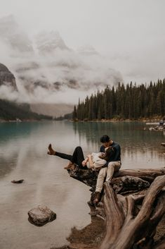 Banff is more than Lake Louise and Moraine Lake. Banff is all about turquoise lakes and gorgeous jagged snow capped mountains that are perfect for your adventure engagement photos and elopement photos | Banff Elopement Photographer | Banff Engagement Photos Inspiration