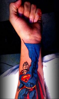 hahahaaa Superman - 11 Superhero Tattoos That Aren't For the Fainthearted Fan