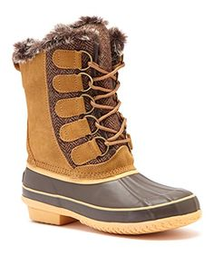 Arctic Plunge Womens Rhonda Boot camelbrown 7 >>> Check out this great product. (This is an affiliate link) #WomensSnowBoots