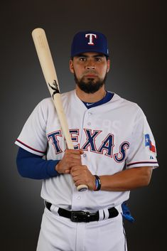 3d17d9a093e Robinson Chirinos  61 of the Texas Rangers poses during Texas Rangers Photo  Day at the