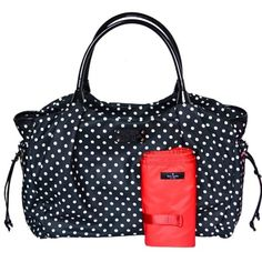 Kate Spade Black Spot Nylon Stevie Baby Bag 398 - bought at outlet 295 off then off paid Unique Handbags, Purses And Handbags, Baby Diaper Bags, Kate Spade Handbags, Black Spot, Black Nylons, Shoulder Handbags, Crossbody Bag, Amazon