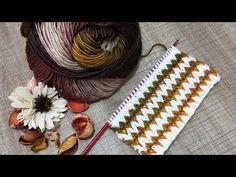 ÇOK KONUŞULACAK❗ YENİ #FAVORİ #ŞİŞ ÖRGÜ MODELİ 😏😏#Двухцветные зигзаги ✅#zigzag color #knitting - YouTube Baby Knitting Patterns, Zig Zag, Christmas Stockings, Knit Crochet, Diy And Crafts, Projects To Try, Make It Yourself, Caps Hats, Ganchillo