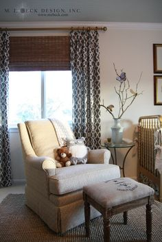 window treatments--do i want black in the curtain?? would match picture frames...