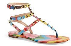 Valentino 'Rockstud' Thong Sandal (Women)