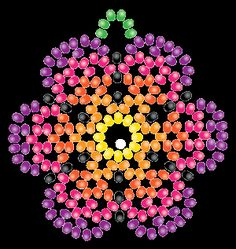 """Képtalálat a következőre: """"Huichol Beading Patterns"""" Free Beading Tutorials, Beading Patterns Free, Seed Bead Patterns, Peyote Patterns, Beading Projects, Diy Projects, Beaded Flowers Patterns, Beaded Earrings Patterns, Mandala"""