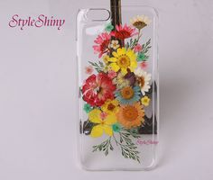 Real pressed flowers Phone case iPhone 6 case iPhone by styleshiny