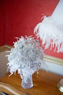 unique wedding bouquet non floral wedding bouquet but in a beige color