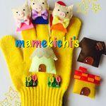手袋シアター 三匹の子ぶた 保育園,幼稚園など Minne, Ronald Mcdonald, Fictional Characters, Puppets, Preschool, Fantasy Characters