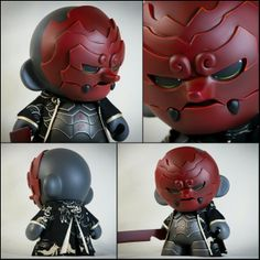 """""""Daitengu"""" Custom 7"""" """"Very little is known about this mysterious Samurai. Some say he is a protective spirit tracking down evil ones, some say that he is nothing more than a rogue warrior gone mad. The truth is only known to a handful of people that he saved through the years… The bloody tale of a lone man sworn to avenge the dead ones… A quest against the odds to find a kill the demon who massacred his clan."""""""