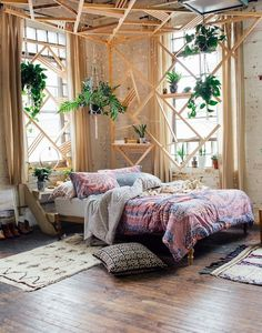 Bedroom & boho home & bohemian life & exotic interiors exteriors & eclectic space & boho design decor & gypsy inspired & nontraditional living & elements of bohemia & Bohemian Bedroom Design, Bohemian Bedroom Decor, Boho Room, Cozy Bedroom, Home Decor Bedroom, Bedroom Ideas, Urban Bedroom, Master Bedroom, Design Bedroom
