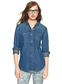 Gap - 1969 asymmetrical pocket denim shirt