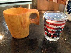 http://www.paracordist.com #bushcraft 1.5oz shot glass carved from birch.