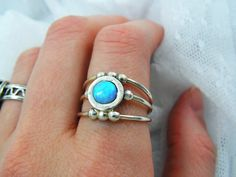 Sterling silver ring. Opal ring. Opal silver by STarLighTstudiO3