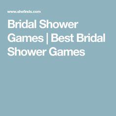 Bridal Shower Games | Best Bridal Shower Games