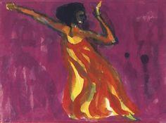 Die Tänzerin (Mary Wigman) By Emil Nolde ,1920