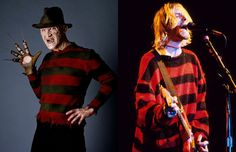 Striped sweaters - The 90 Greatest Fashion Trends 1990s Trends, 90s Fashion, Fashion Trends, Nightmare On Elm Street, Freddy Krueger, Jumpers For Women, Popular Culture, Striped Sweaters, Celebrity Style