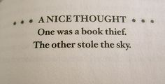 the book thief.