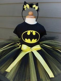 Batman Batgirl Halloween Tutu Costume by lana