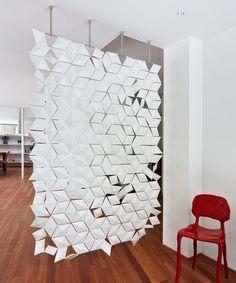 paravent design facetté Bloomming- le diviseur de piece moderne