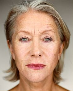 Helen Mirren; I like this pic because it doesn't look airbrushed or overdone. She looks her age, and beautiful.