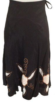 See by Chloé Silk French Skirt Black