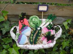Panier de légumes de saison au crochet par Bretzel-et-chardon.