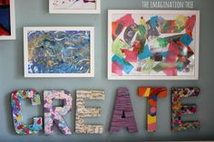 areas in toddler classroom | Make a creative art space and art gallery in your home or classroom ...
