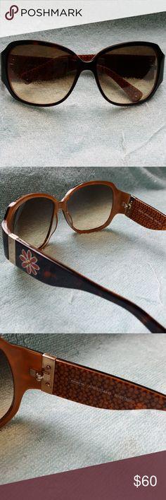 5bce3bdafae28 Coach April Tortoise Sunglasses Authentic