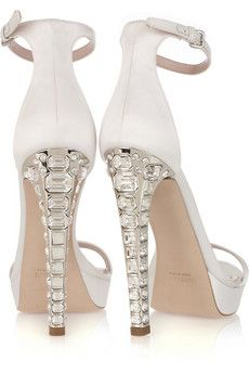 miu miu : Crystal-heel silk-satin sandals | Sumally (サマリー)