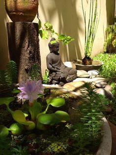 15 Most Popular Asian Garden Design Inspiration for Your Backyard - Home Bigger Zen Garden Design, Japanese Garden Design, Chinese Garden, Buddha Decor, Meditation Garden, Prayer Garden, Buddha Meditation, Buddha Zen, Rock Decor