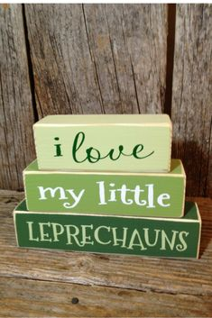 St Patrick's Day blocks Very cute!   #stpatricksday #rustic #decor #ad