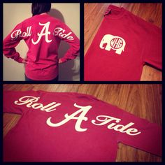 roll tide monogrammed spirit jersey - something just climbed to the top of my wish list