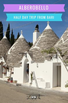 "Alberobello, literally translated from Italian as ""beautiful tree"", is a small town (and commune) located in the Metropolotan City of Bari."