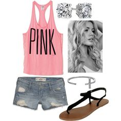 Cute vs PINK tank. Love this outfit for summer. Want the cute tank top! (: