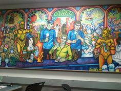 Star Trek Last Supper Mural at Oregon State underground computer lab.  Shatner is the messiah.