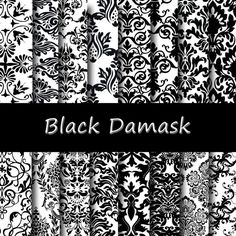 Hey, I found this really awesome Etsy listing at https://www.etsy.com/listing/123412870/black-damask-digital-paper-pack-instant