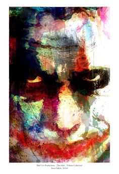 "The Joker Abstract Art Print (The Dark Knight); Archival Quality 13""x19"" Art Print **EXPRESS SHIPPING AVAILABLE** by j2artist on Etsy https://www.etsy.com/listing/169114366/the-joker-abstract-art-print-the-dark"