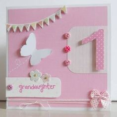 Image result for first birthday cards for girls