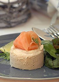 Salmon Mousse with Herb Salad